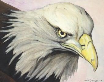 Bald Eagle Original Art - Print at home quick gift