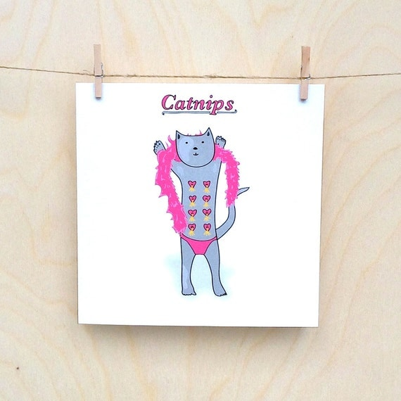 Cat Card, Funny card, funny greetings card, funny cat card, Catnips