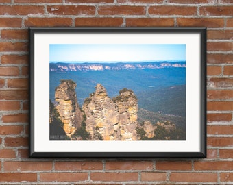 The Three Sisters Blue Mountains Photography Print Printable Art Downloadable Print