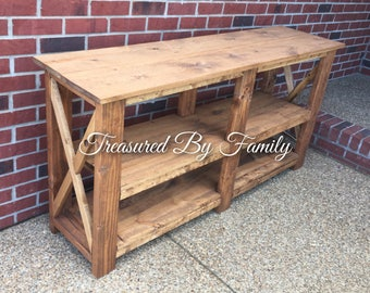 Farmhouse Style Solid Wood Entryway-Hall-Sofa-Libray Table