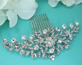 SALE Ends Sunday Bridal Comb, Rhinestone Comb, Bridal Comb Crystal, Wedding Crystal Hair Comb, Hair Comb, Wedding Accessory, Bridal Headpiec