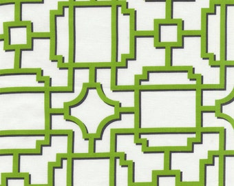 100% premium quilting cotton fabric by the yard, Mod Lattice in green by Paula Prass for Michael Miller. Need more fabric yardage? Just ask.