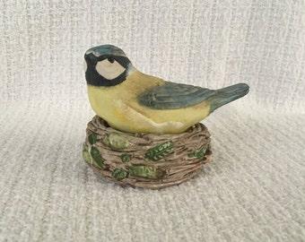 Bastin Porcelain Bird and Nest Salt & Pepper Shakers, Blue Tit and Nest Shakers, Marjorien Bastin, Bird Salt and Pepper, Cottage Garden