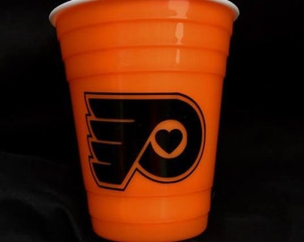 Philadelphia Flyers Cup/Double Wall/Reusable/Cup/Beer/Gift for her/Gift for him