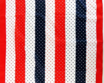 Vintage 70s stripes & dots scarf - retro beauty!