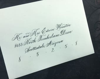 Calligraphy Wedding or Event Envelopes