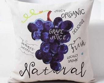 Farmers Market Grape Juice - Pillow Cover