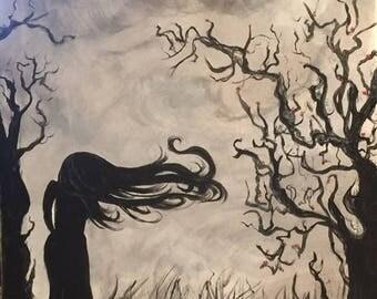 sileoette  canvas paintings
