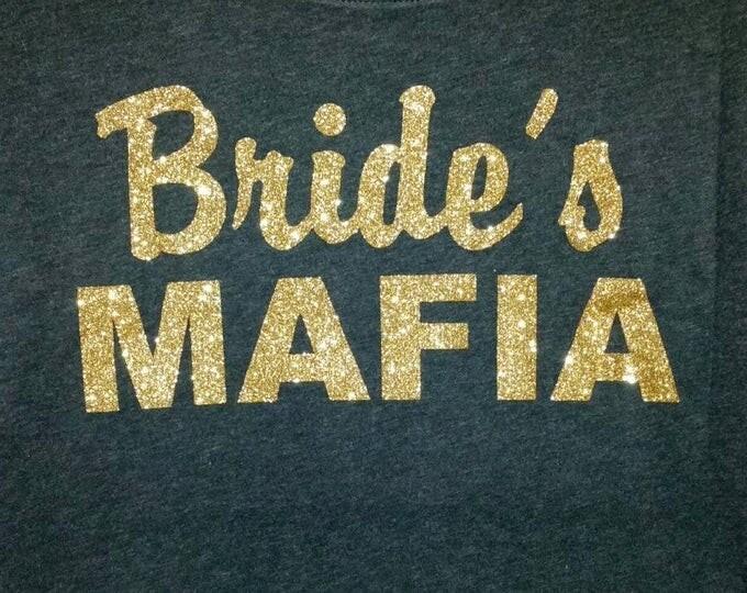 Bride's mafia gold shirt. Bachelorette party dolman sleeve shirt. Bachelorette t- shirt. Mafia bachelorette . Funny bachelorette t-shirt.
