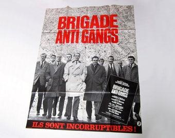 Original 1966 Film Poster, Large Movie Poster, Brigade Antigangs, French Film Poster, Crime Films, Police Detective Films, Gangster Films