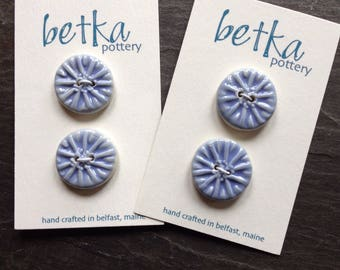 Periwinkle aster buttons, set of 2
