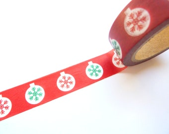 Christmas Bauble Washi Tape 15mm x 7m