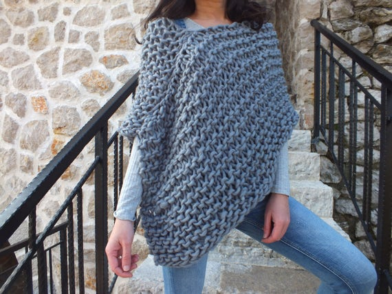 Pattern Poncho Super Chunky Poncho Pattern Beginner