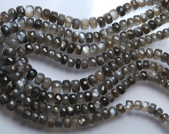 16'' Strand, AAA Quality Natural Sun Shine Gold Moonstone Faceted Smaller Rondelles, 8-4mm