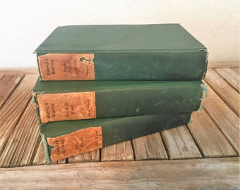 Vintage Set of Books by Rudyard Kipling Wee Willie Winkie Letter of Marque Barrack - Room Ballads and Other Verses Edition de Luxe