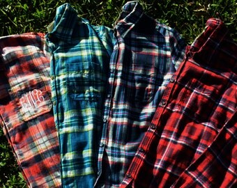 Monogrammed Flannel Shirt - Personalized Flannel Shirt, Gift for Her, Christmas Gift, Fall Fashion, Monogrammed Plaid Shirt,
