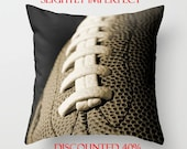 Pillow Sale! Football Pillow Cover-20x20 Pillow Cover-Athletic Home Decor-Square Toss Pillow-Sepia Photo Throw Pillow-Slightly Distressed