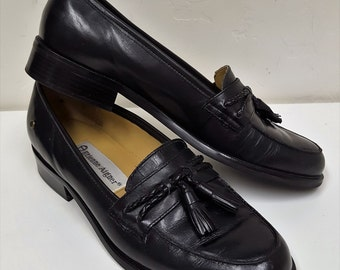 Vintage Etienne Aigner Leather Hamilton  Shoes | Classic Black Loafers   Size 5M  USA  Great Condition  on SaLe Now