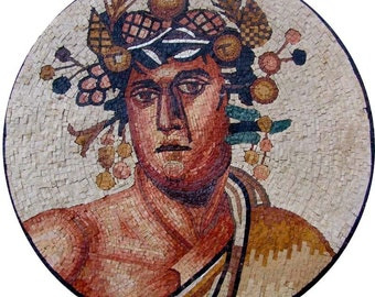 Mosaic Greek God Mosaic