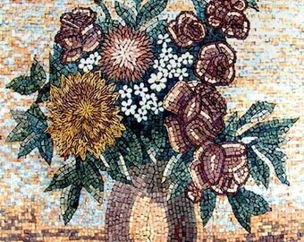 Rose and Sunflower Floral Mosaic