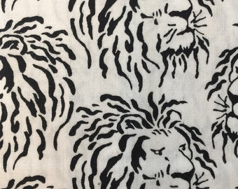 Lions from the Domino Collection for Andover Fabrics by Kathy Hall