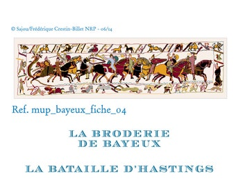 The battle of Hastings Bayeux embroidery in cross stitch