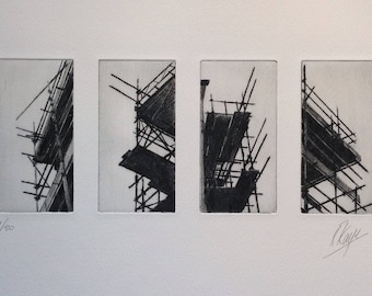 Group of scaffolding prints