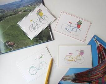 Bike postcards set