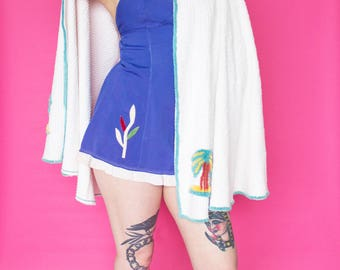 1930s Swimsuit / 30s Bathing Suit / 1940s 40s One Piece Swim