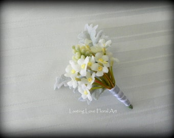 Forget Me Not Boutonniere, Spring Boutonniere, Boutonniere, Forget Me Not Wedding Flowers, Groom Boutonniere, Spring Wedding Flowers