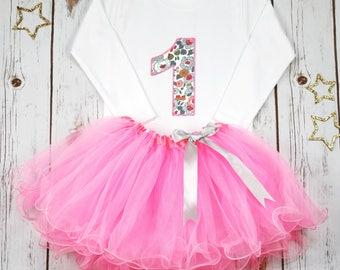 Baby Girl First Birthday Outfit, 1st Birthday Outfit, Girls Pink Tutu Outfit, Pink Tutu, Baby Girl Outfit, 1st Birthday T Shirt