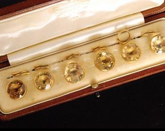 A Set of Citrine Dress Buttons
