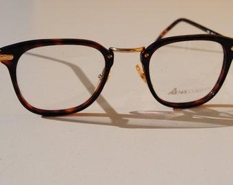 vintage ENRICO ALBERTI 2507 3627 50-22  tortoise  &  gold with adorned bridge panto P3  eye / sunglasses frame made in Italy New