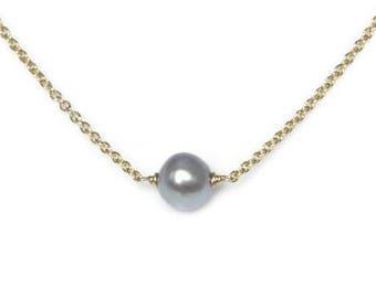 Gray Pearl Choker, Pearl Choker, Pearl Necklace, Pearl Jewelry, Birthstone Necklace, Minimalist Necklace, Dainty Necklace, Simple Necklace