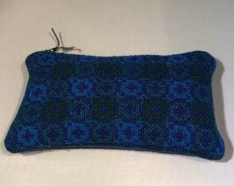 Welsh tapestry tweed purse