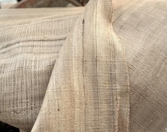 Beautiful Hand Woven Pure Raw Silk Fabric wild silk fabric Indian fabric natural fabric by the yard