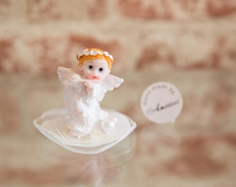 20 pcs Baby Baptism Favor, Personalized tag,Christening Favor,First Communion,Angel,Bautizo Recuerdos de bautizo,Primera comunione recuerdos