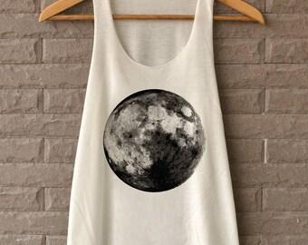 Moon Tank Top Full Moon Shirt Tank Top T-Shirts off white Tank Top Womens