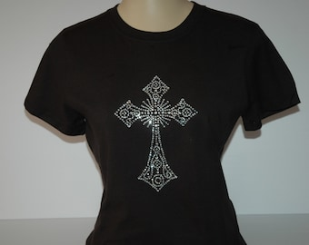 Rhinestone Cross T-shirt
