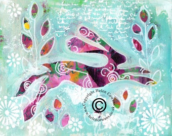 Bounding Hare #144 Original Painting