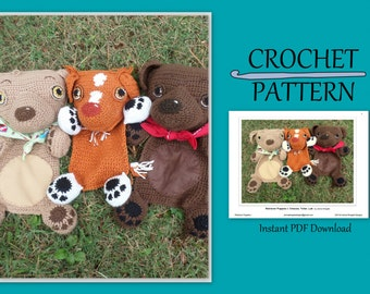 Retriever Puppies 1 - Crochet Blankie Patterns - Chessie - Toller - Lab // Instant PDF Download //DIY // Baby gift // Photo prop// Snuggly