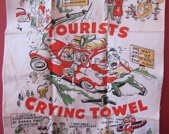 Vintage Tourists Crying Towel (Hong Kong)