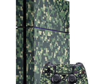 Pixel Camo - Playstation Console Controller Vinyl Skin Wrap Decal Sticker Wrapping Film Pattern Video Games Gaming Car-Film PS4 Game