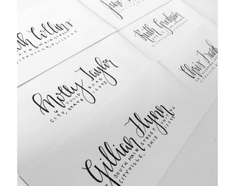 Hand-lettered Addresses - Envelopes - Calligraphy - Wedding - Save the Dates - Invitations