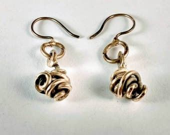 Bronze Ball Earrings