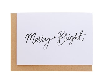 Blank Cards - Christmas Merry and Bright