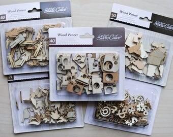 Studio Calico Wood Veneer Die Cut Wood Pieces - You Choose