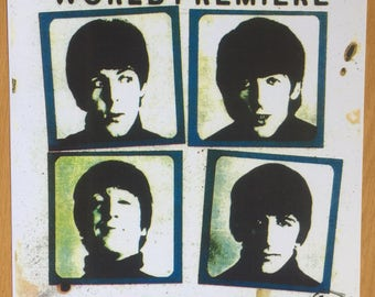 The Beatles Hard Days NIght concert poster Beatles Posters Beatles Poster 11 x 17