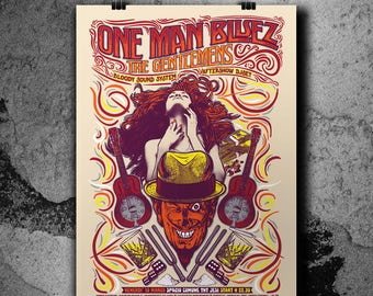 One Man Bluez & The Gentlemens - Gig poster