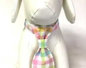 Dog neck tie, Easter neck tie, pastel neck tie, pink neck tie, green neck tie, spring neck tie, over the collar neck tie, collar accessory